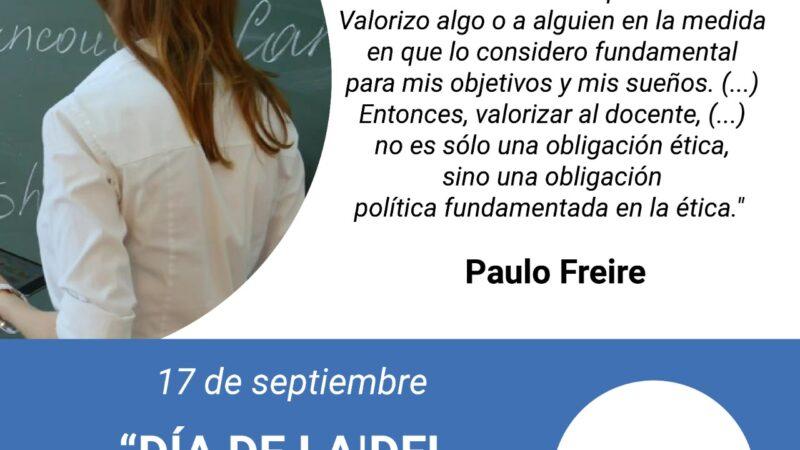 """17 de septiembre """"Día de la / del Docente Universitaria/rio"""""""