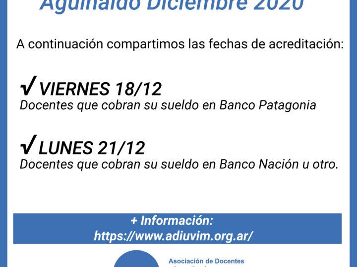 Aguinaldo Diciembre 2020