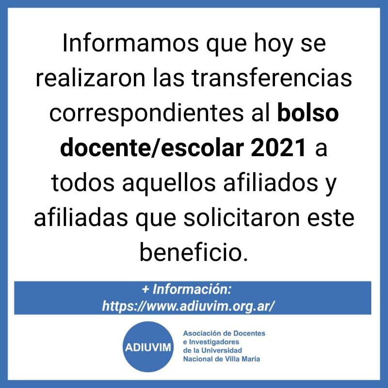 Bolso Docente/Escolar 2021: más de 200 afiliados y afiliadas recibieron el aporte