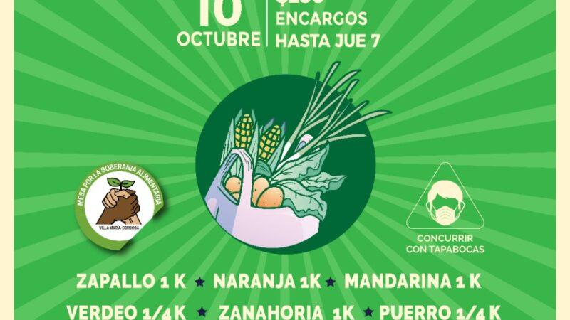 La Mesa por la Soberanía Alimentaria organiza un nuevo bolsón el sábado 10 de octubre