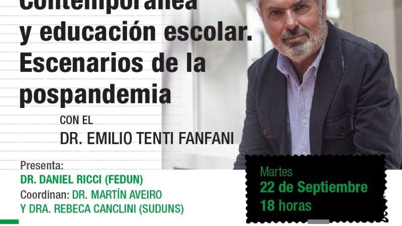 Emilio Tenti Fanfani en charla abierta sobre cultura, educación y pospandemia