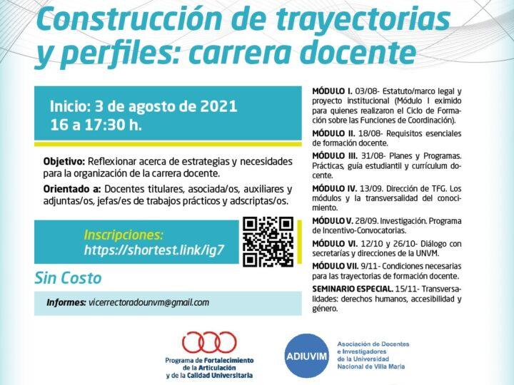 La Carrera Docente no se detiene: Nuevo curso de posgrado gratuito sobre construcción de trayectorias y perfiles docentes