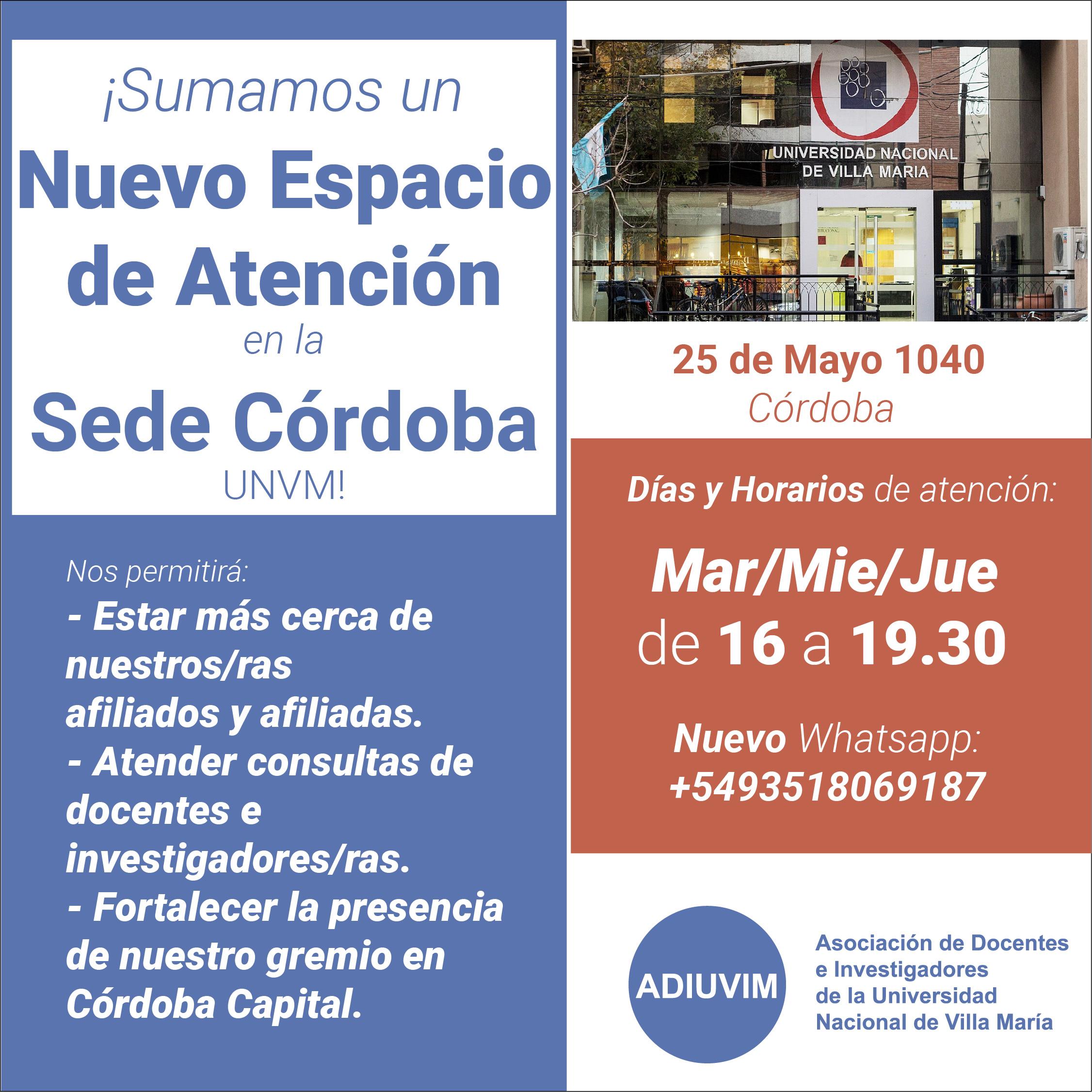 ¡Sumamos un Nuevo Espacio de Atención en Córdoba!