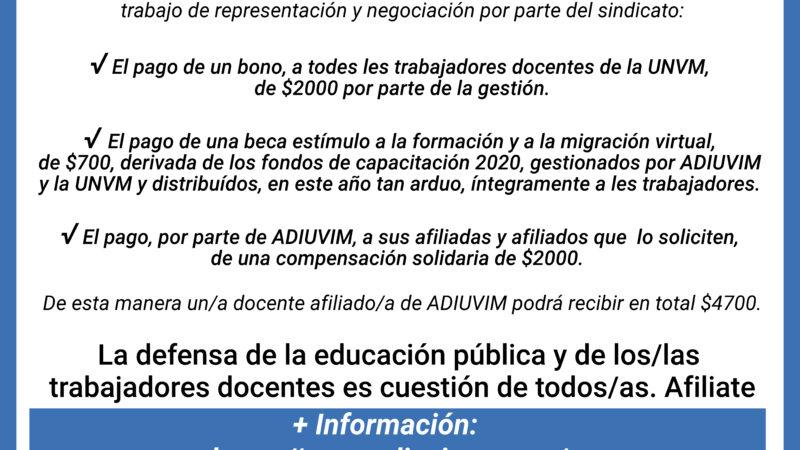 Acuerdos con la mesa paritaria docente local