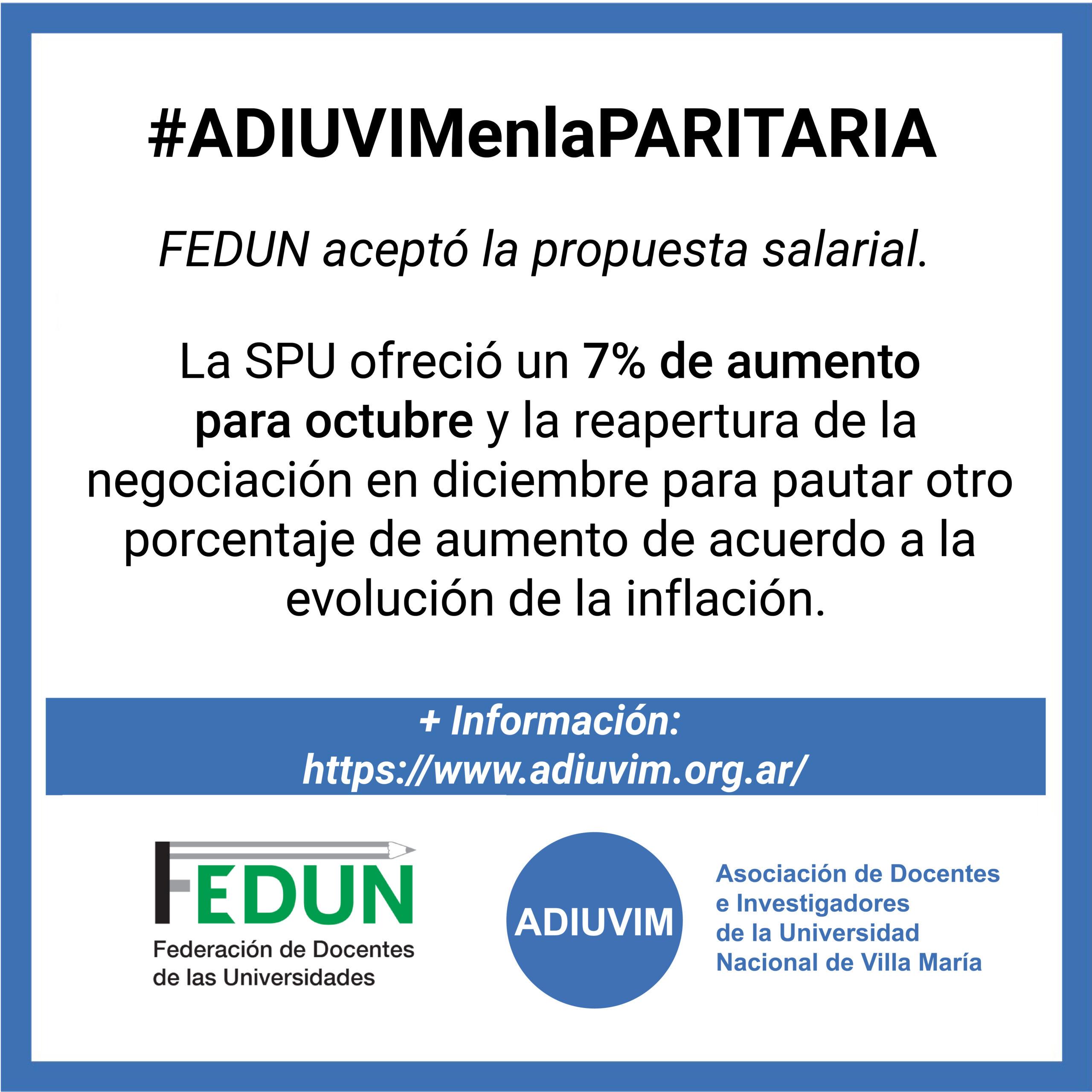 FEDUN aceptó la propuesta salarial ofrecida por la SPU