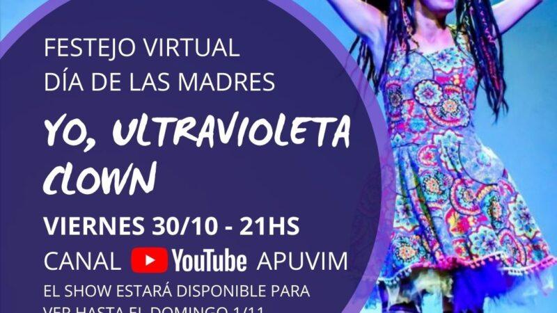 """APUVIM invita a participar del show """"Yo, Ultravioleta Clown"""""""