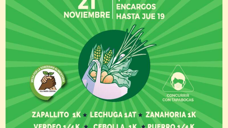 La Mesa por la Soberanía Alimentaria organiza un nuevo bolsón el sábado 21 de noviembre