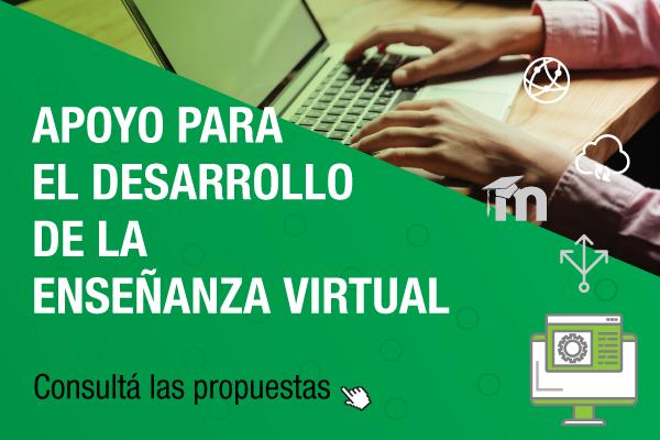 Te invitamos a conocer y realizar cursos de apoyo para el desarrollo de la enseñanza virtual