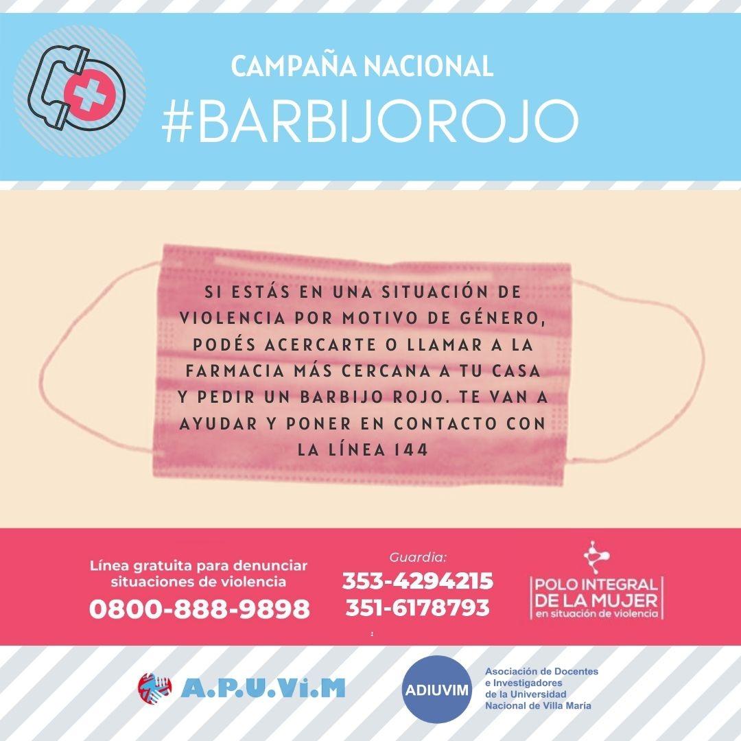 Adherimos a la Campaña Nacional #Barbijorojo