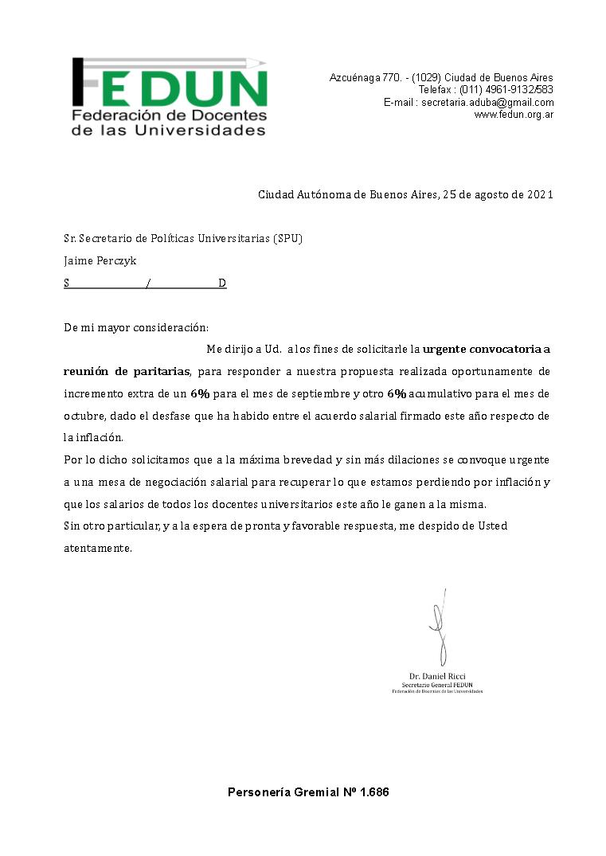 La FEDUN exige que se retome de manera inmediata la negociación salarial