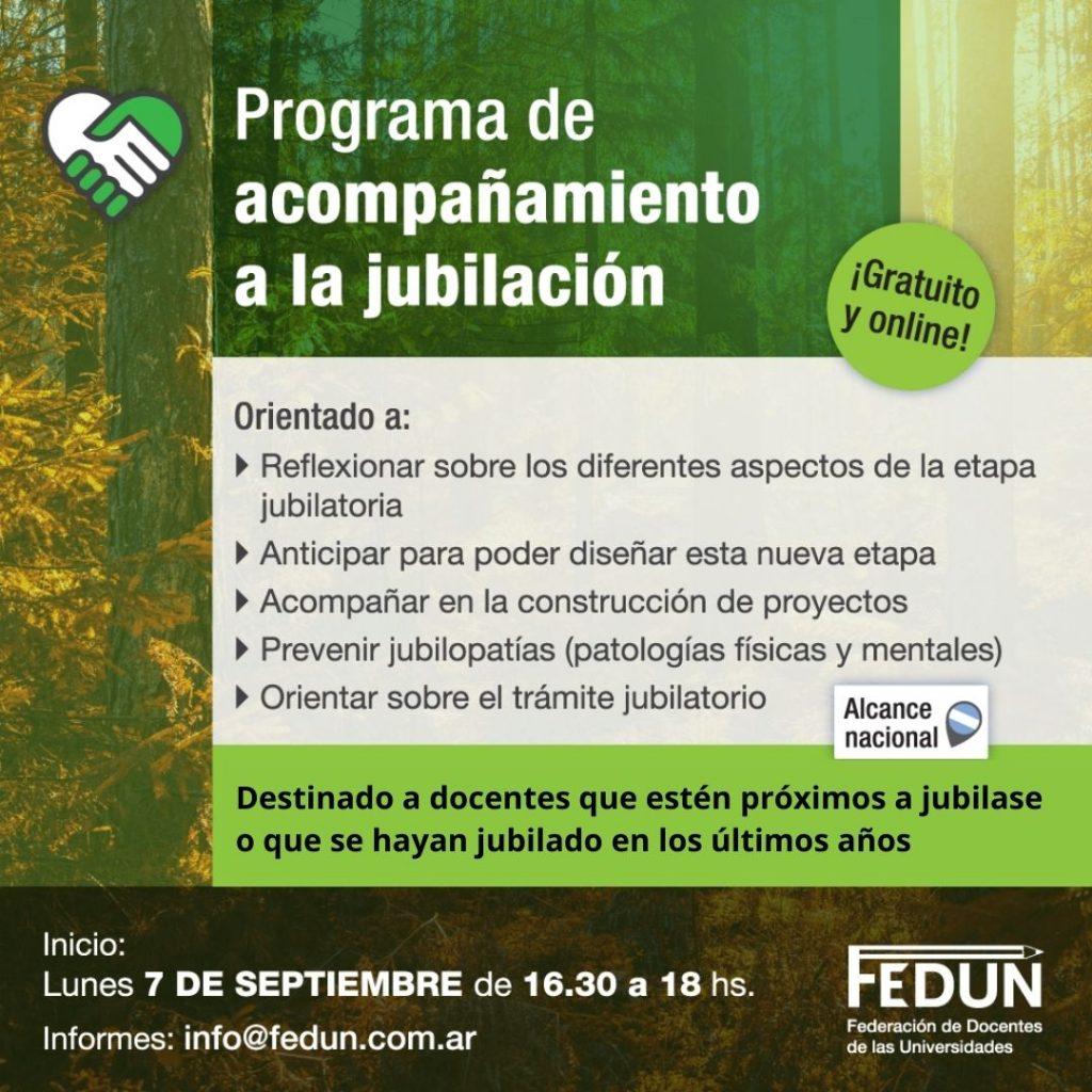 FEDUN lanzó programa de acompañamiento a la jubilación