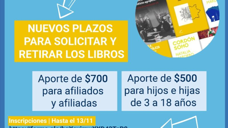 Aportes Día de la Docencia Universitaria: NUEVOS PLAZOS para inscribirse y retirar libros